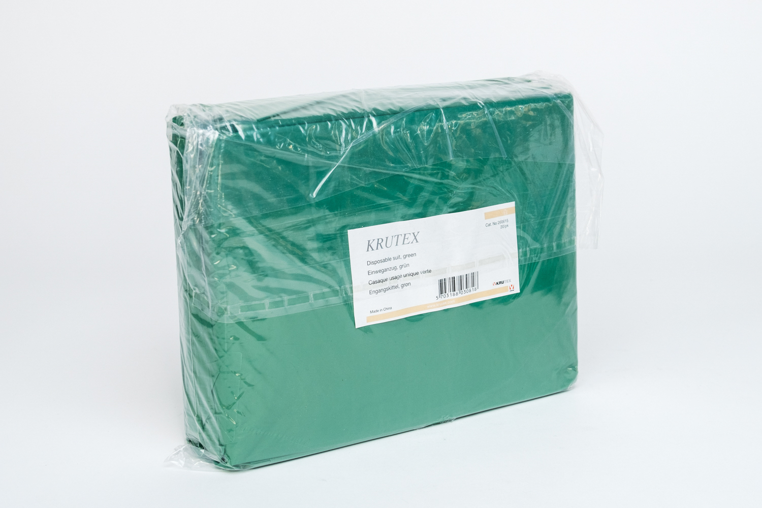 Disposable Plastic Green Gown
